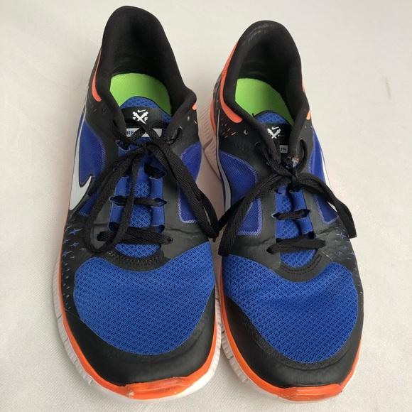 new style 8ad1f 77e60 Nike Free Run +3 blue/orange running sneakers 11